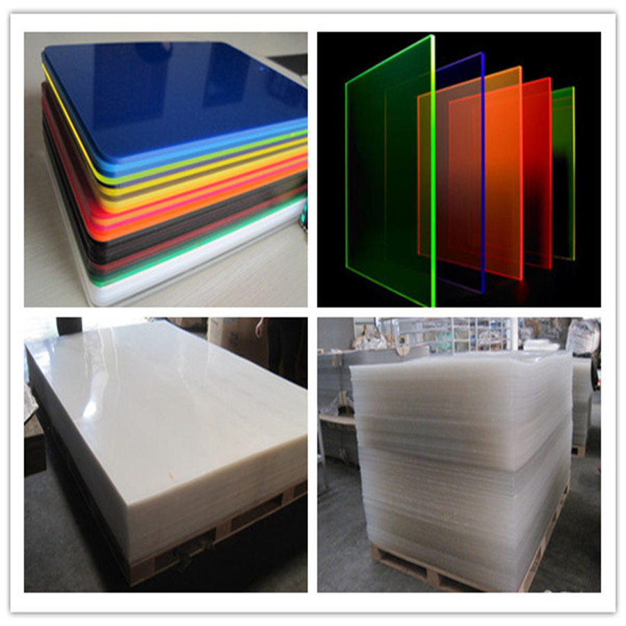 Colored cast acrylic sheet - Perspex Fluorescent Plate Color Plastic Casting Acrylic Sheet