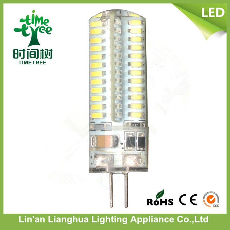 85-265V Warm White 5W Transparent Corn Light LED G4