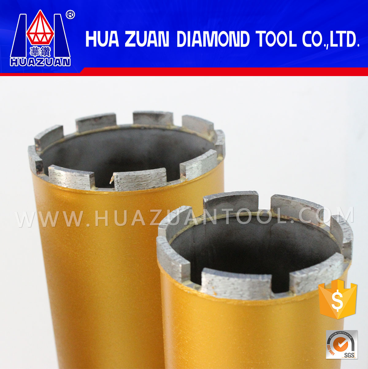 Length 450mm*1-1/4 Unit Diamond Crown for Reinforcement
