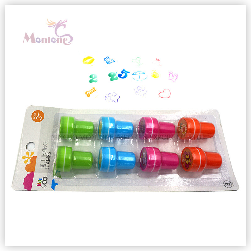 8 Pack Holiday Fun Self Inking Stamps Toy for Kids