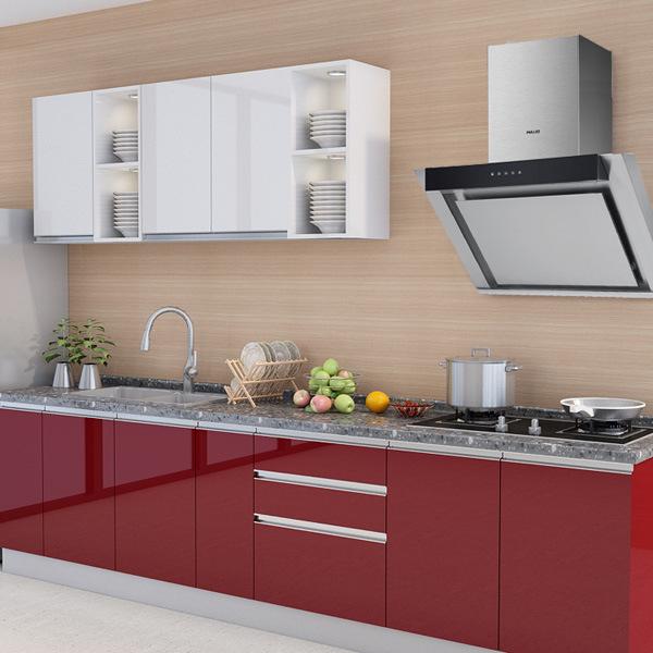 Custom Made PVC Modern Kitchen Furniture