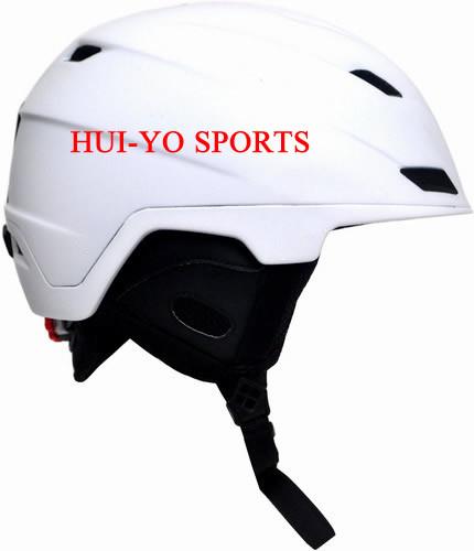 in-Mold Snow Helmet, Adult Skiing Helmet, White Ski Helmet, Racing Snowboard Helmet