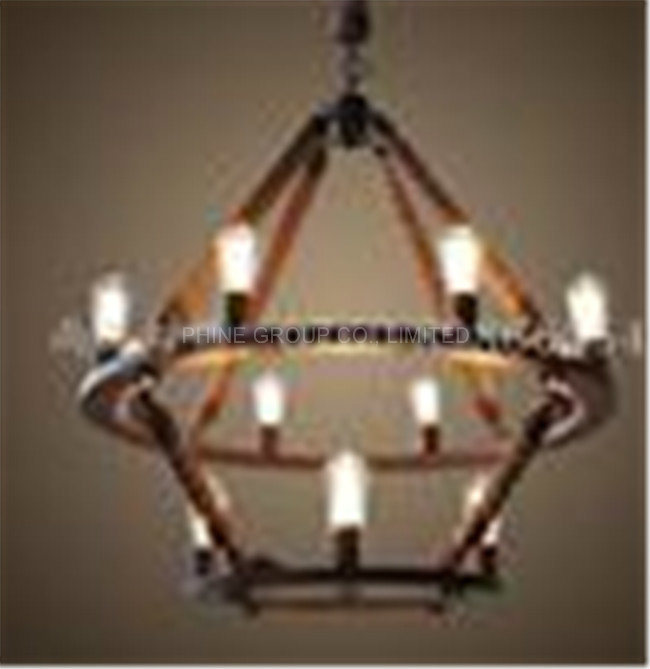 Decorative Pendant Lamp with Rope for Home or Hotel