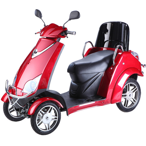 Four Wheel Mobility Scooter with Lengthened Seat for Elder