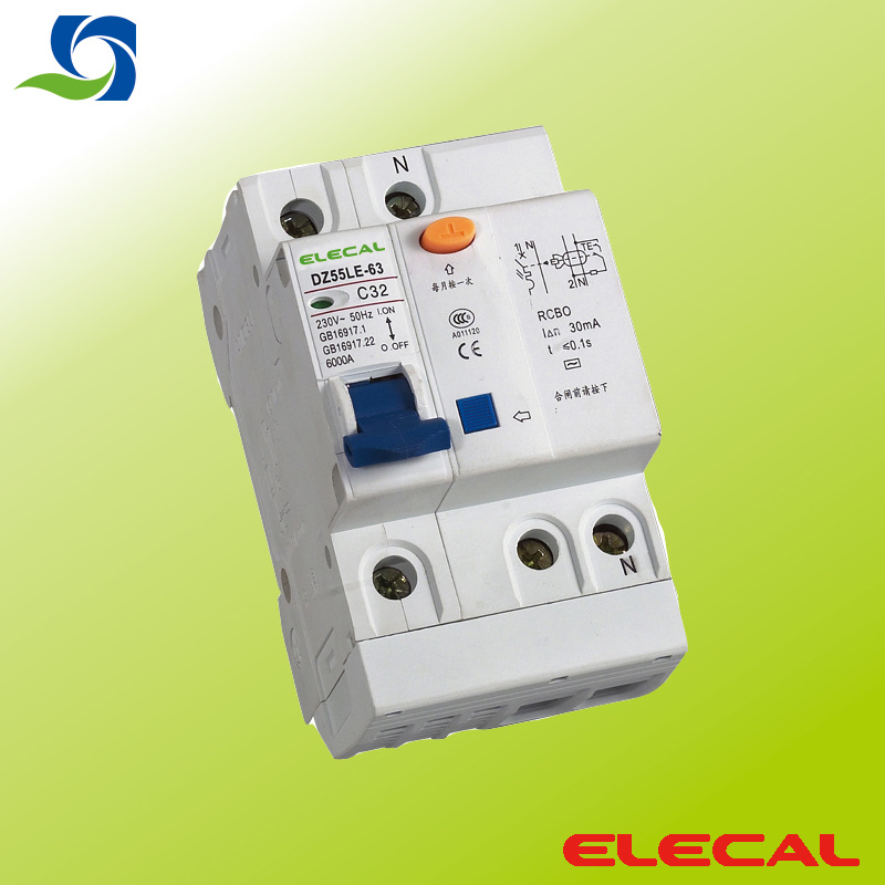 Dz55le-63 Residual Current Operated Circuit Breaker