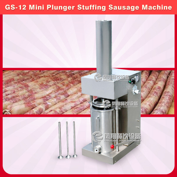 Stainless Steel Mini Plunger Sausage Stuffing Machine, Sausage Stuffer GS-12