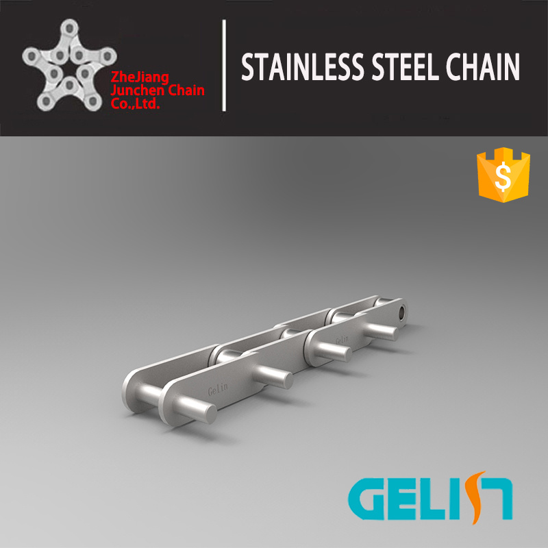 Double Pitch Stainless Steel Roller Chains with Extended Pin Attachments Stainless Steel Chain Conveyor