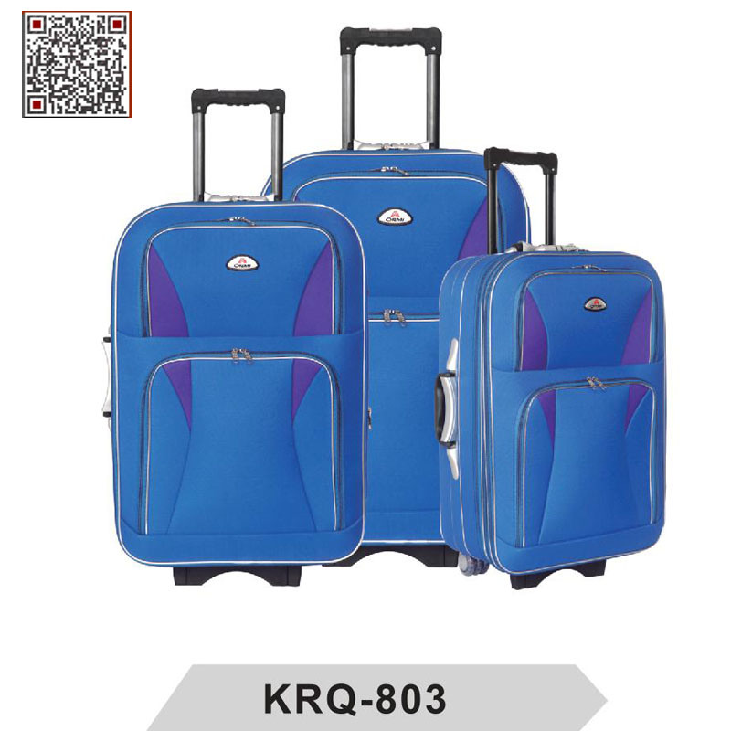 Shandong Silk EVA External Trolley Travel Lugage