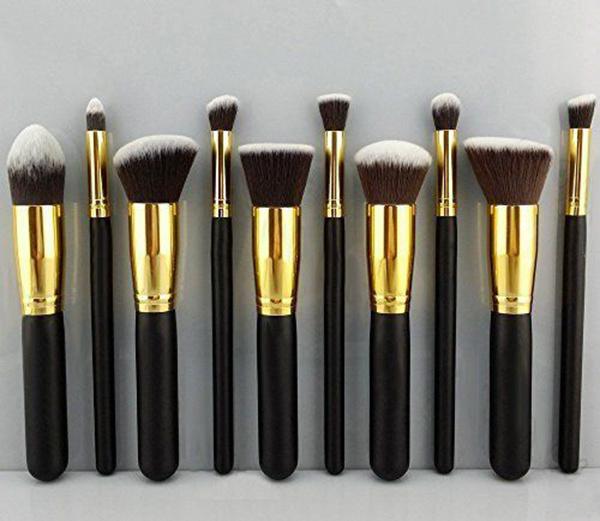 10 PCS Professional Portable Cosmetic Tool Makeup Brush