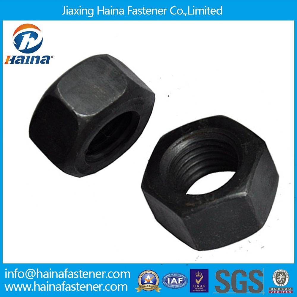 High Quality Carbon Steel Black Heavy Hex Nut Low Price China Producer/Heavy Hex Nuts
