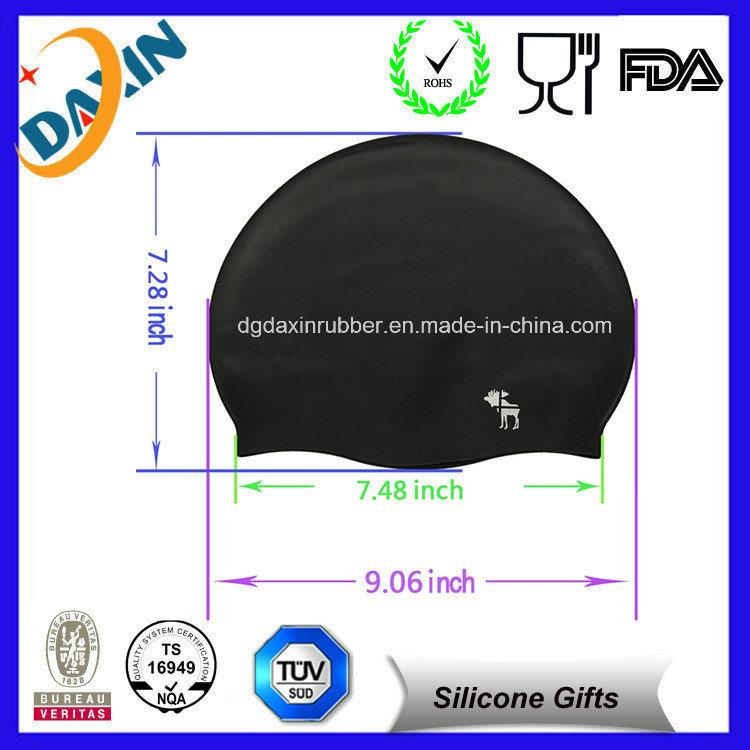 Newest Cheap Custom Silicone Swim Cap for Long Hair