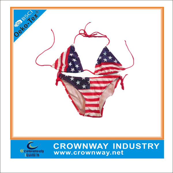 Wholesale Nylon Spandex Custom Made UK Flag Bikini