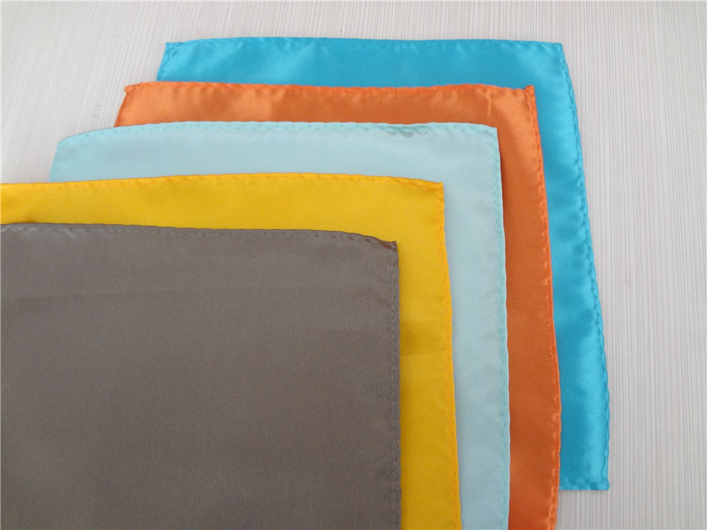 Wholesale Fashion Plain Color Noble Men′s Silk Handkerchief (WH02)