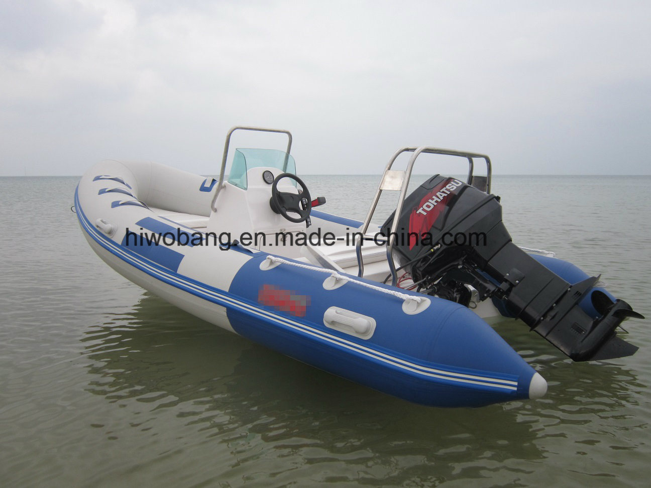 Eye-Catching Design Best Selling Motor Fiberglass Rib Boat