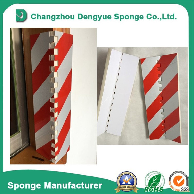 Red-White Garage EVA/NBR Protector Strip Foam