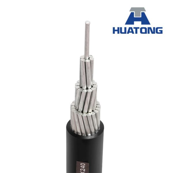 12kv-35kv Aluminum Conductor XLPE / HDPE Single Core Sac Cable