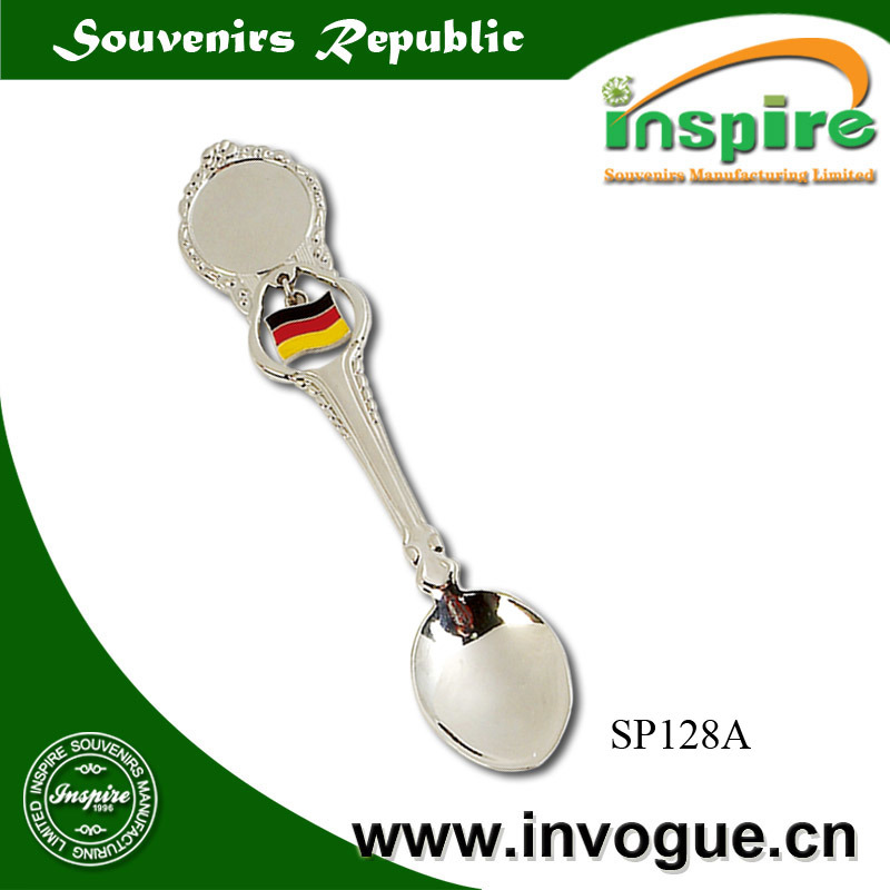 Customized Germany Souvenir Spoon with Flag Spinner