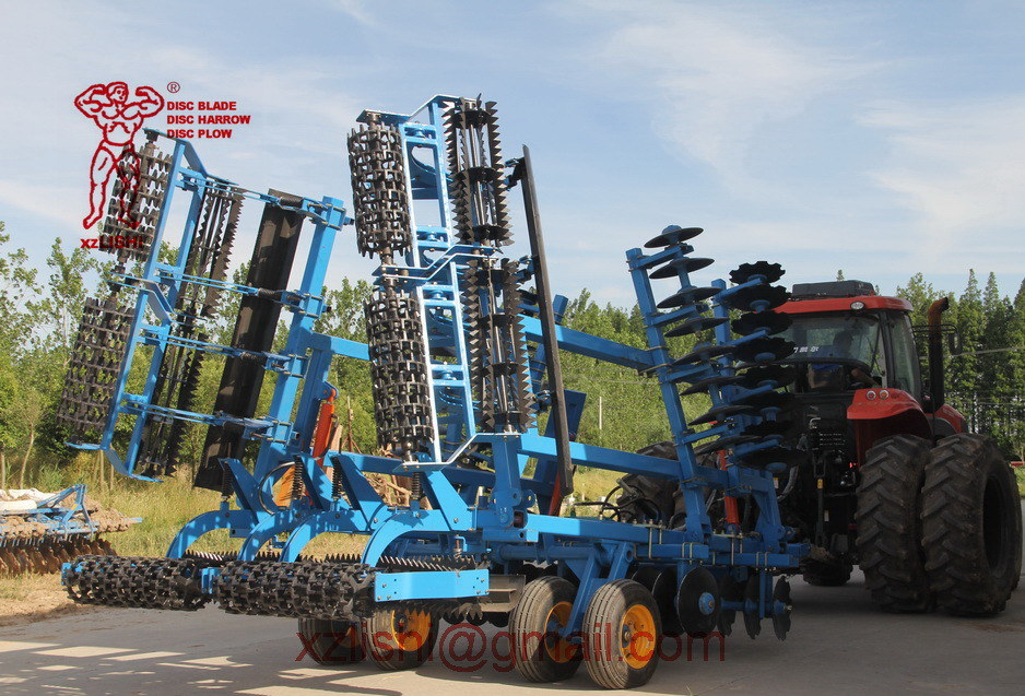 Efficient Combined Land Preparation Disc Harrow with Leveling and Soil Roller Compaction Machine