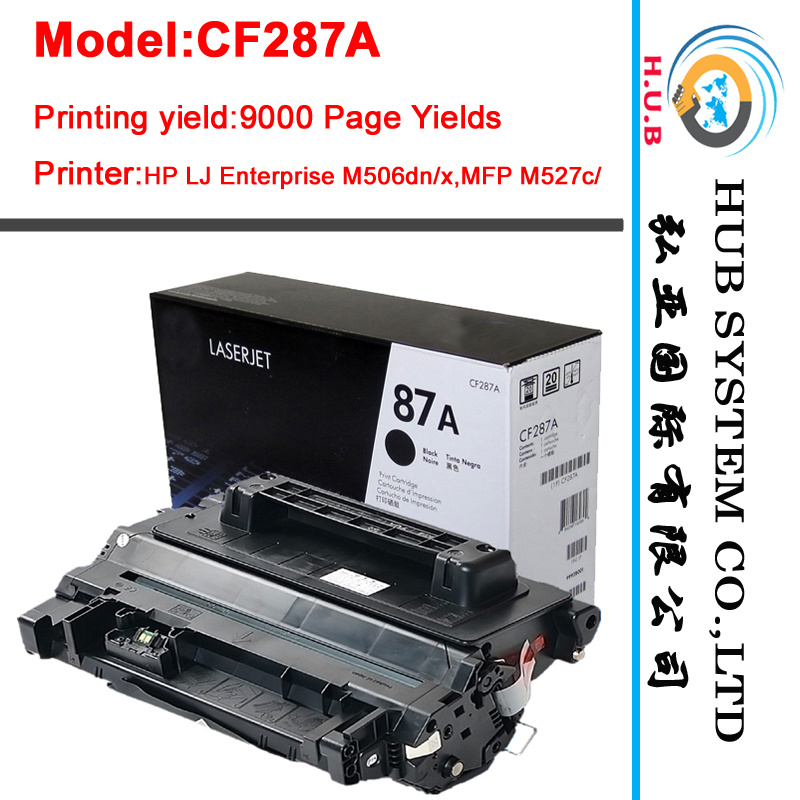 2017 New Toner Cartridge for HP CF287A, CF287X (Compatible, OEM)