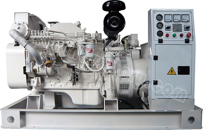 40kVA~250kVA Cummins Marine Auxiliary Diesel Generator with CCS/Imo Certification