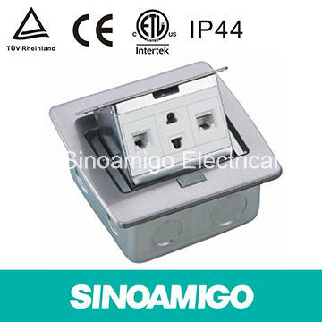 High Quality Stainless Pop-up Type Floor Socket Floor Outlet with British Standard Outlet to Tctelecommunication Closet