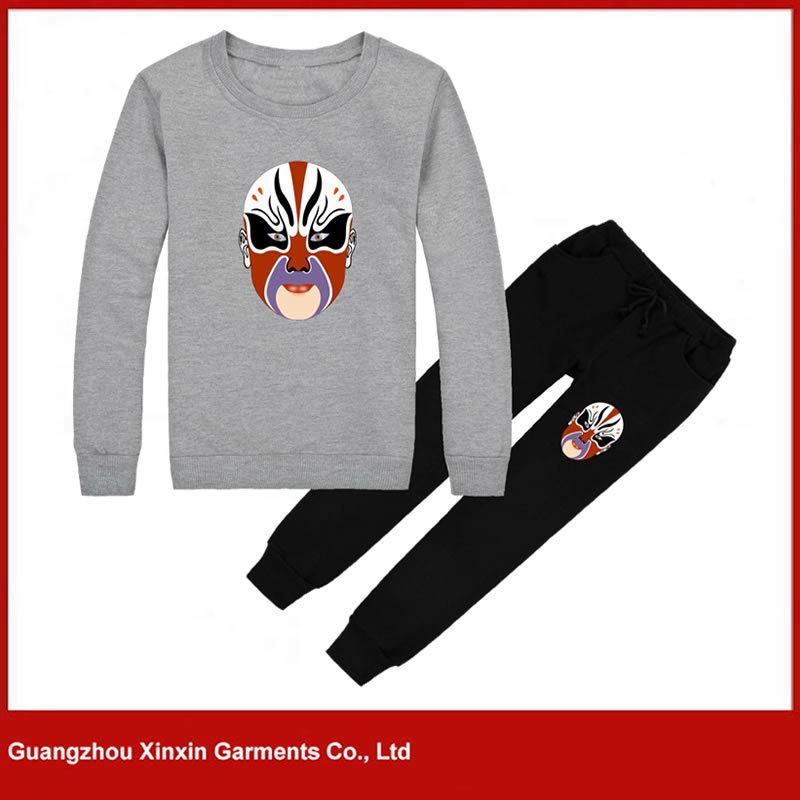 Wholesale Men′s Hoodie Suit, Outdoor Sweatshirt, Custom Sports Wear (T73)