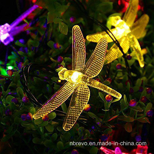 16FT 20LED Solar Powered Dragonfly String Lights (RS1017)
