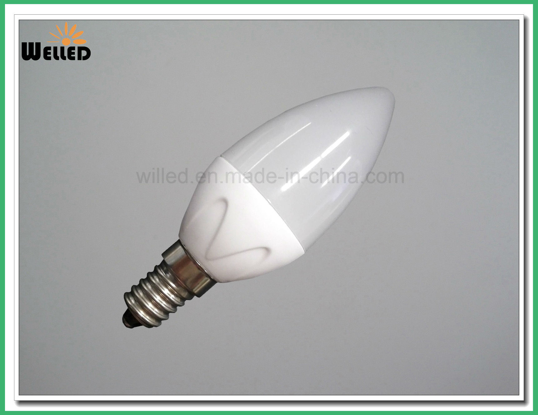 Ceramic C37 LED Candle Light 5W Dimmable LED Candle Lamp 5W 80ra 400lm E14 B27 B22