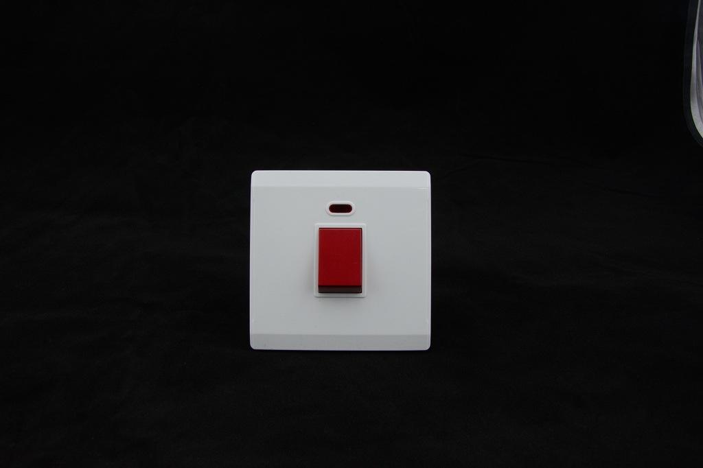 Hot Sale British Standard 45A 1 Gang D/P Switch