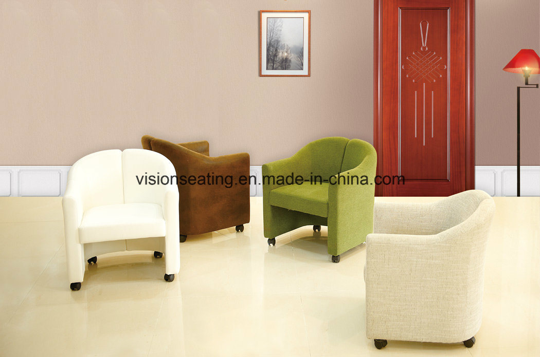 Removable Fabric Sofa Tub Chair with Castors (9301)