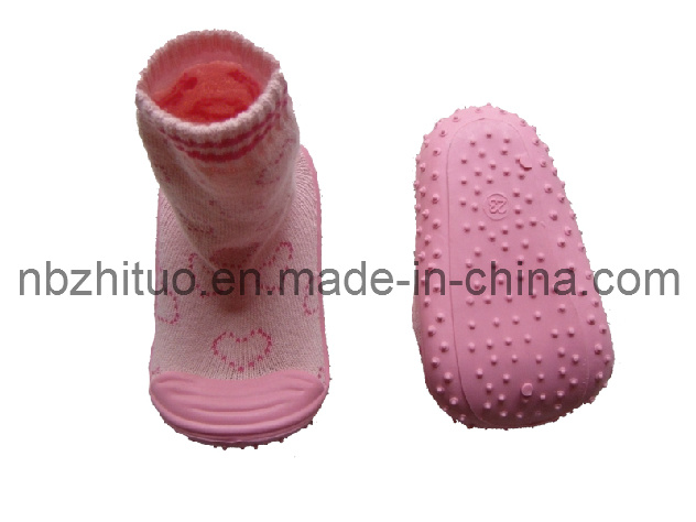 Baby Shoe Terry Cotton Socks (ZT-HS-136)