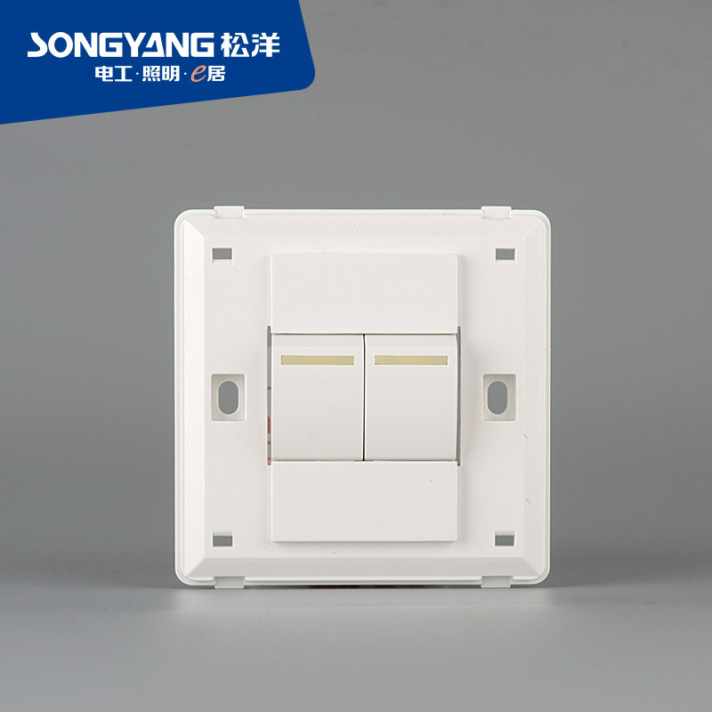 Flame Retardant PC Plastic Series 2gang Switch