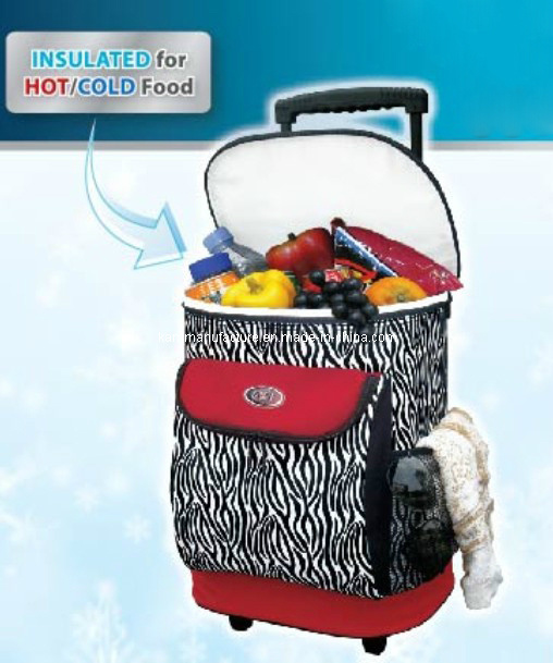 Zebra Printing Insulated Rolling Cooler Bag (KM9009)