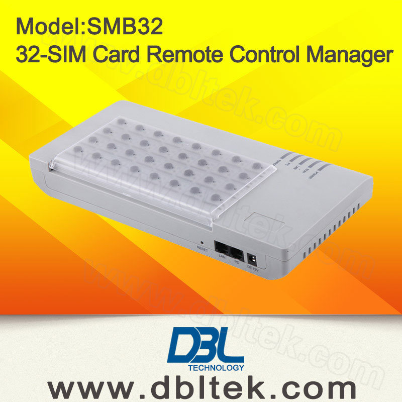 GSM SIM Bank/GSM SIM Server/Remote SIM Card Manager/Remote SIM Cards Emulator With 32 Ports Smb32