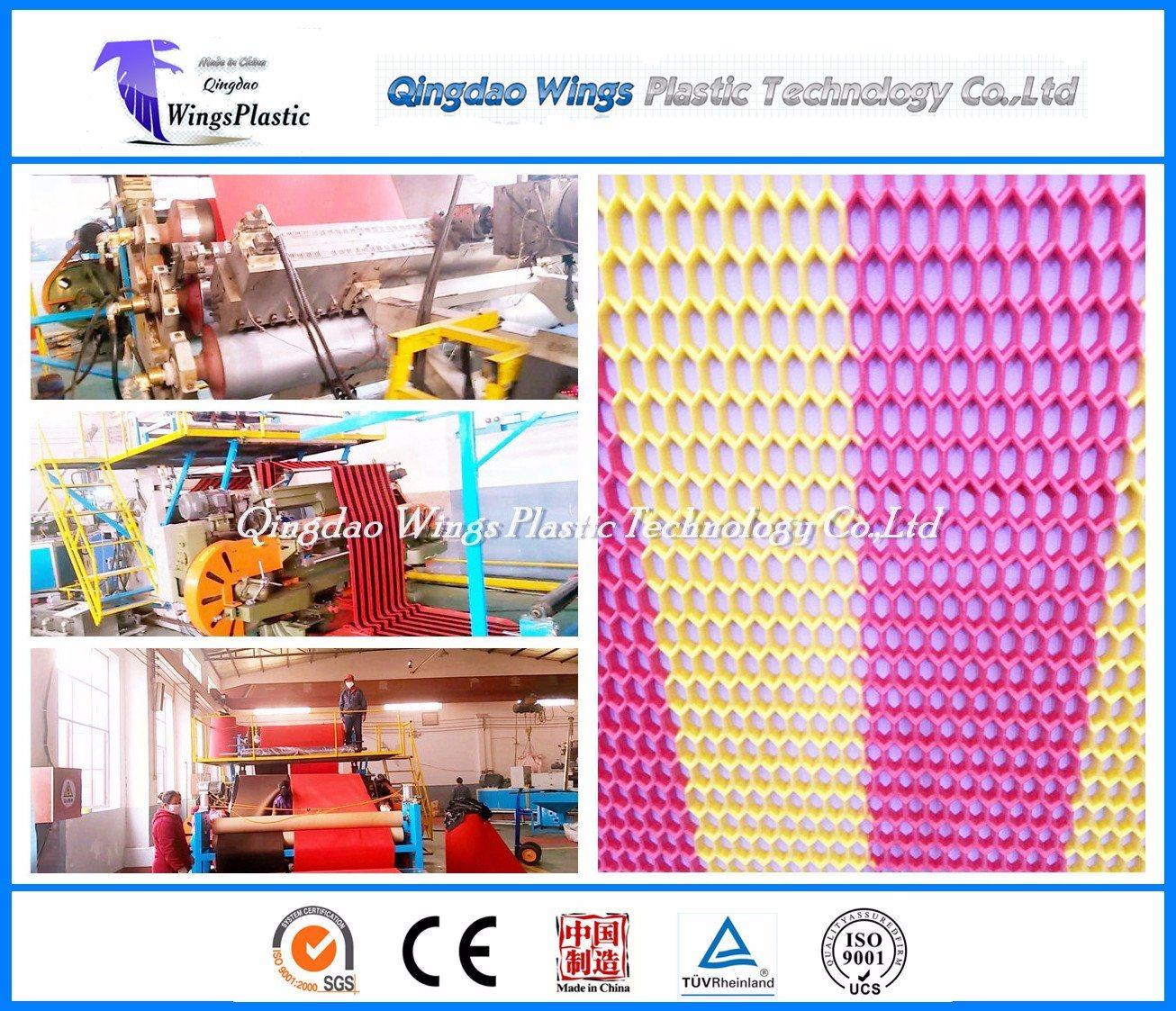 Double Color PVC Mat Making Machine / PVC Anti-Slip Mat Extruder Machine
