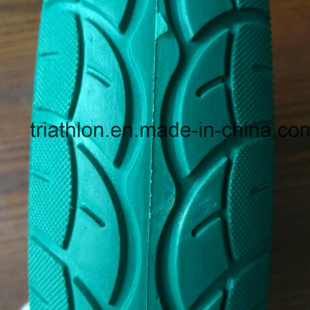 16X4.00-8 Wheelbarrow PU Foam Tires with Five Star Wheel
