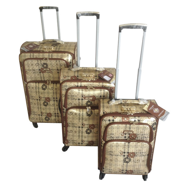 PU Leather Bags Trolley Case Luggage Jb-D012