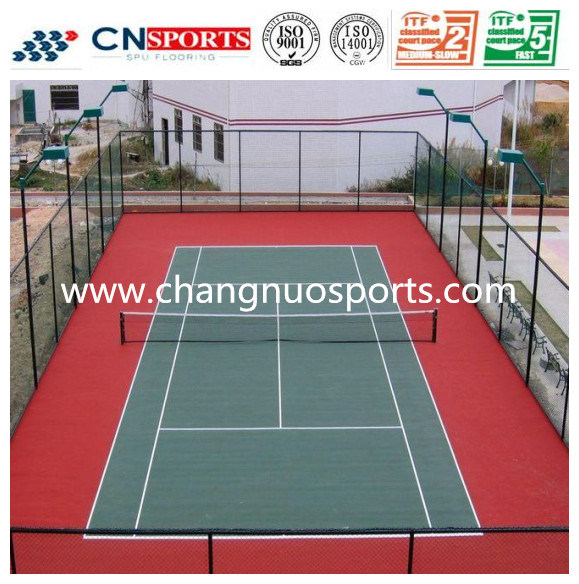 High Quality Indoor Outdoor Silicon PU Tennis Court of Sports Flooring