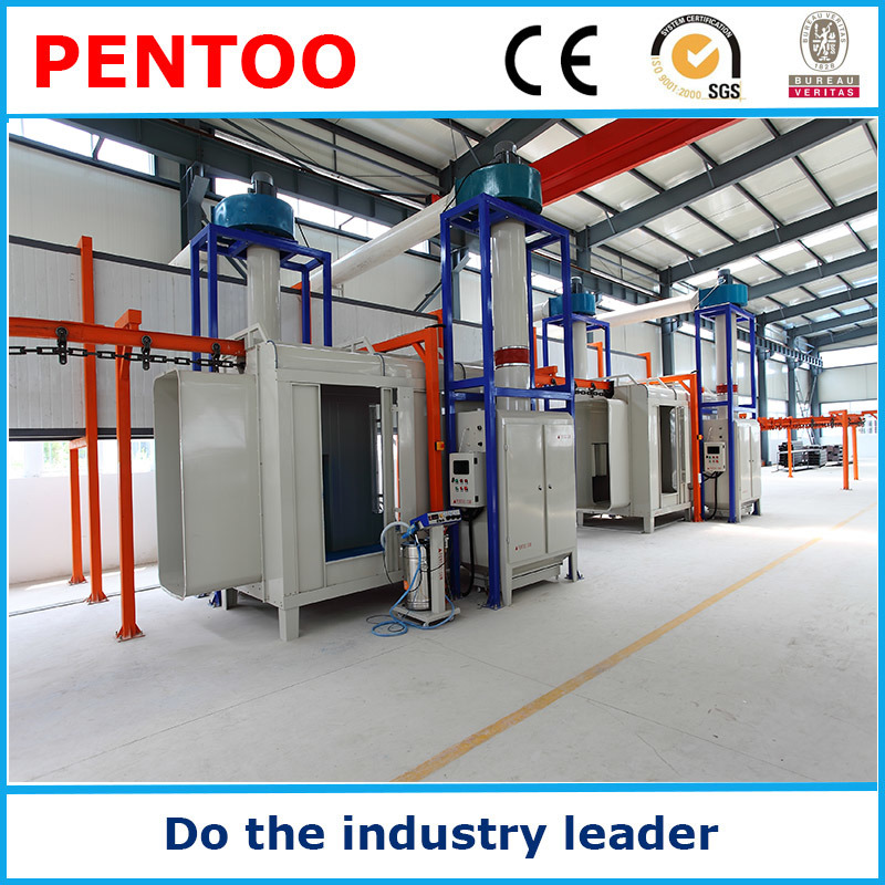 High Quality Ce Manual Powder Coating Booth for Car Wheel
