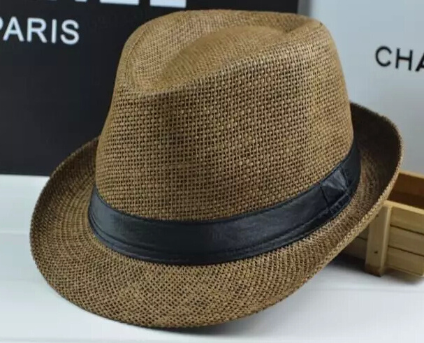Fashion Straw Paper Basic Fedora Tribly Hat