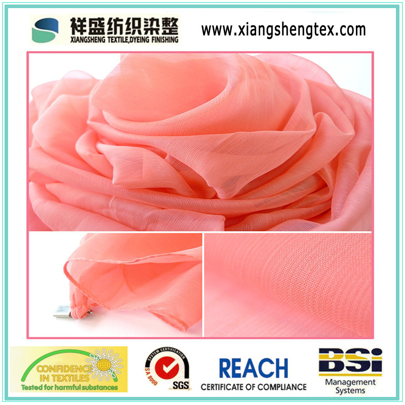 Imitated Silk Fabric Printed Chiffon Fabric for Dress Shirt