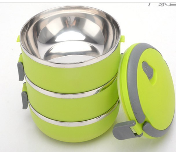 Colorful Stainless Steel Tiffin Box, Lunchbox with PP Lid