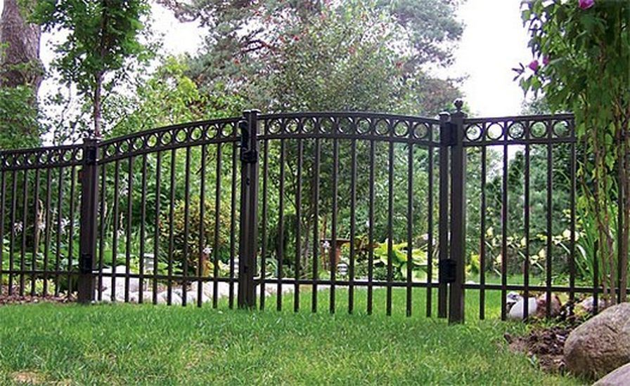 Classic Decorative High Quality Wrought Iron Security Fence Panels