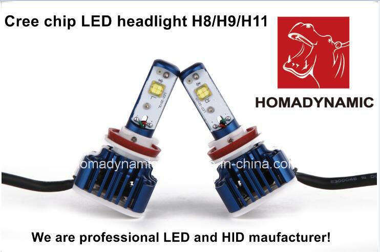 2016 Most Popular Auto Accessories V16 H7 Crees LED Headlight H1 H4 H7 H11 9005 9006