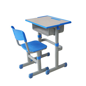 School Furniture Desk and Chair Wooden Plastic Material