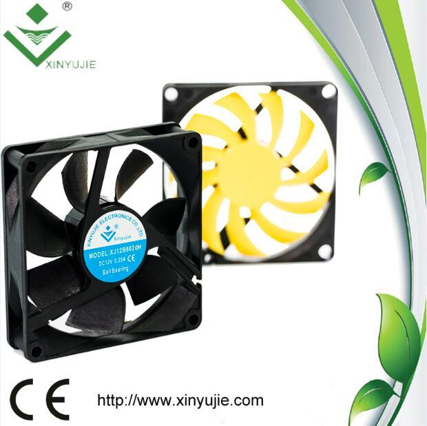 80*80*20 mm DC Cooling Fan Made in China 2016 Hot Selling Plastic Fan