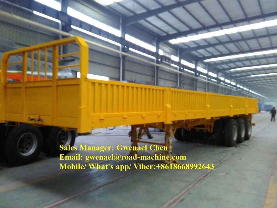 3 Axles 70 Tons Flatbed Semi-Trailer, Container Semi Trailer, BPW Axle