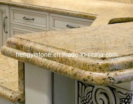 ... Gold Kitchen Top /Natural Stone Pre Cut Granite Countertops (BS-CT33