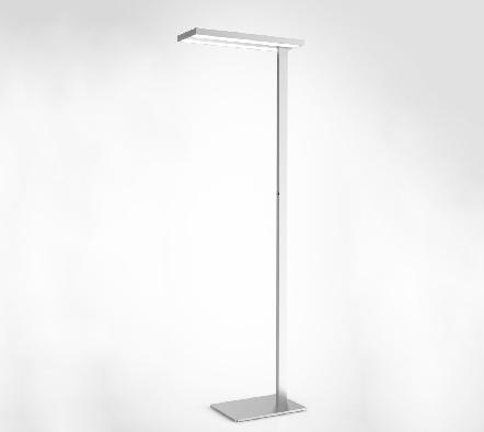 Uispair Modern Office 10W 32V Thin Rectangular Steel Base Aluminium Alloy LED Lamp Floor Lamp