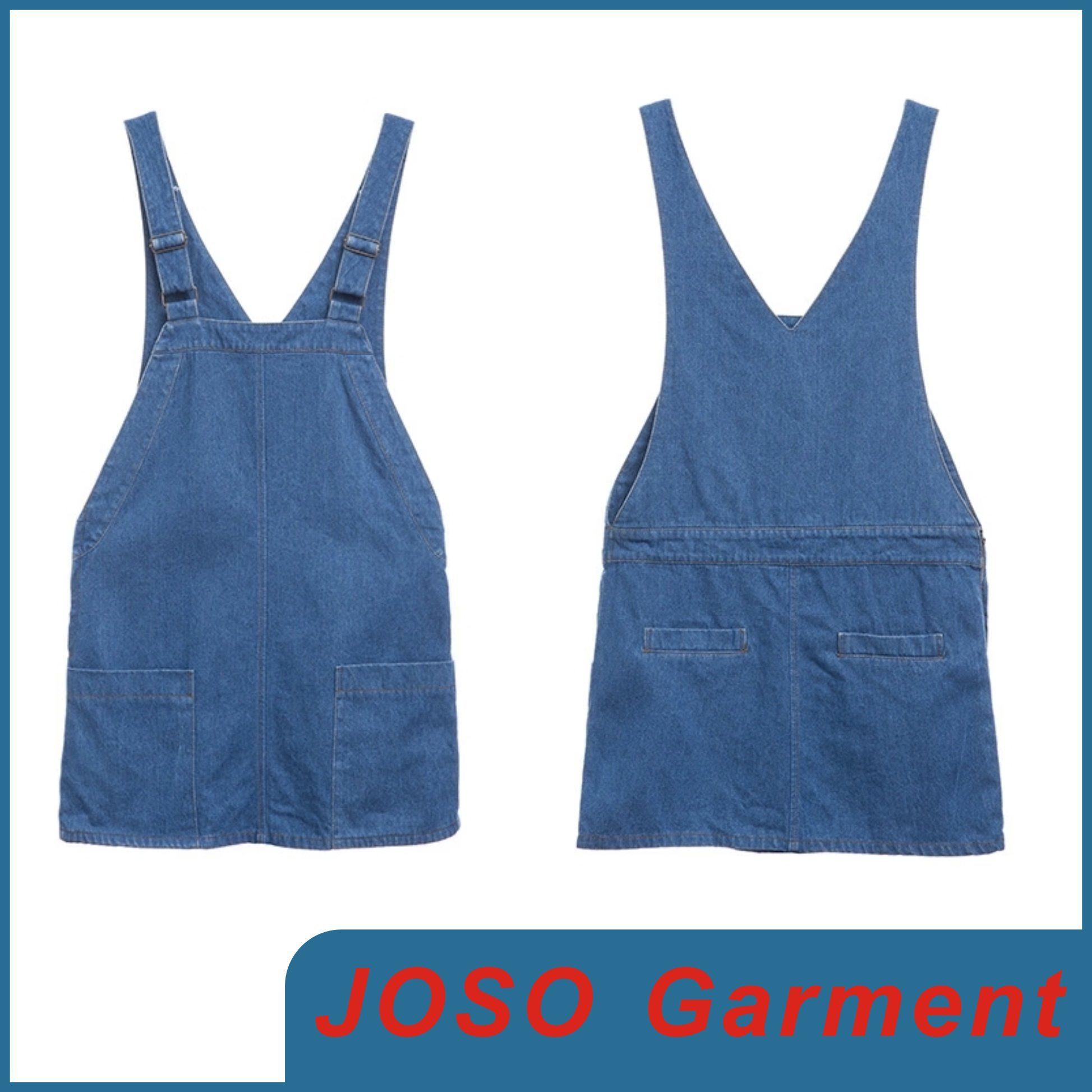Girls Denim Suspender Dress (JC2032)